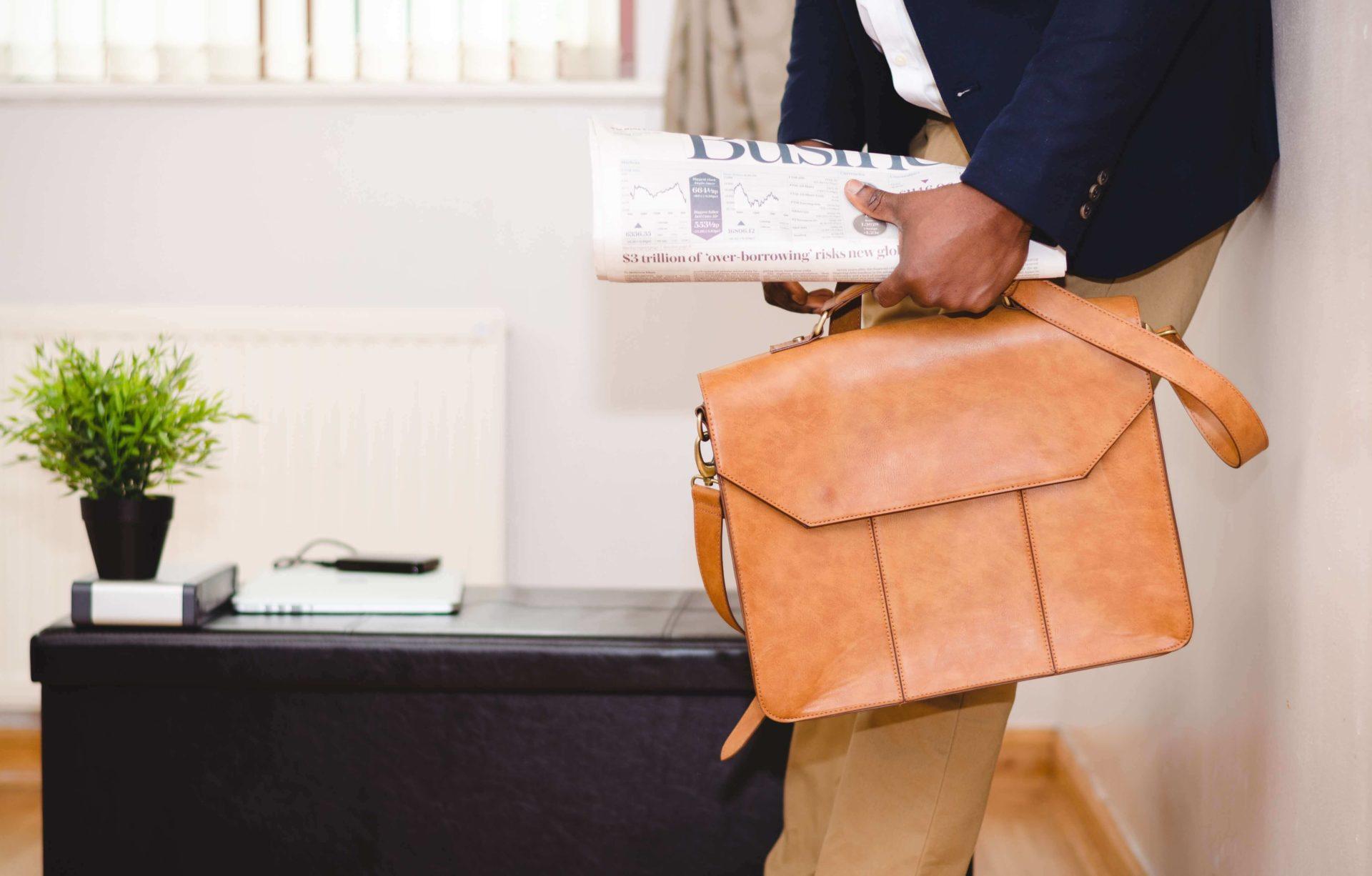 Businessman et sa malette