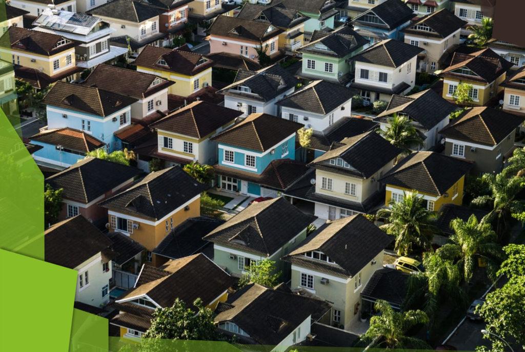 Maisons vues de haut